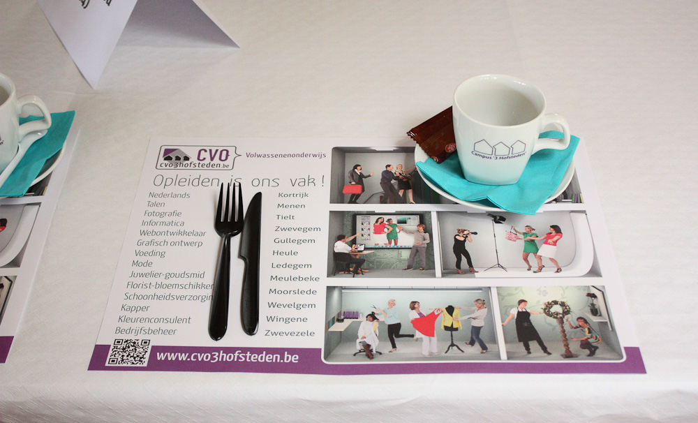 CVO 3 Hofsteden - 3D and photo composition - placemat