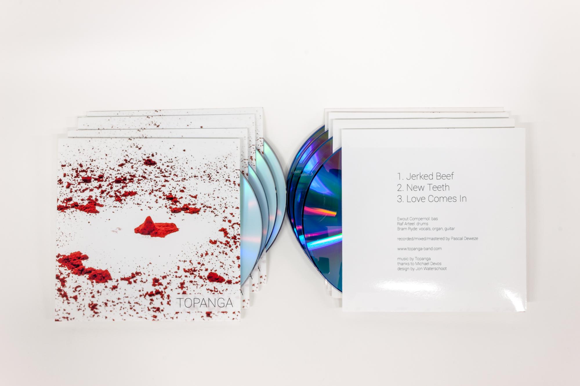 Topanga - CD EP design