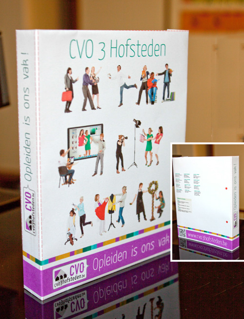 CVO 3 Hofsteden - 3D and photo composition - binder
