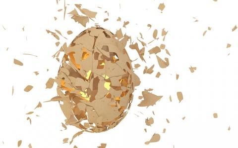Exploding egg - 3D experiment