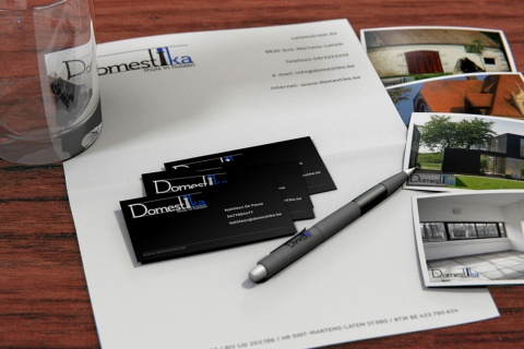 Virtual 3D composition for a real estate agents corporate identity