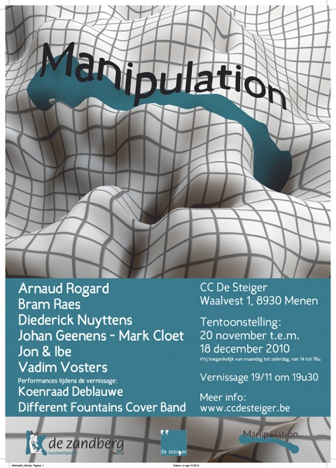 Poster and wordmark for the exhibition Manipulation