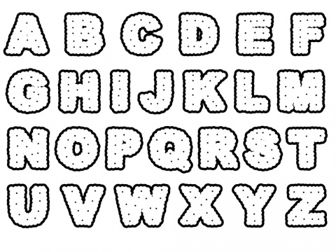 Lettercookies (nic nac) font created by using 'stroke along path'