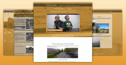 Verkeer(d) in Gentbrugge - one page website with scrolling effect