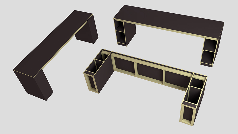Workbench for our studio - 3D render