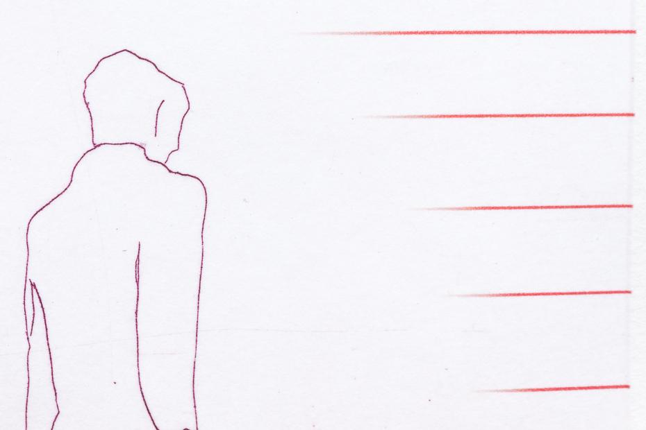 Standing figures - detail