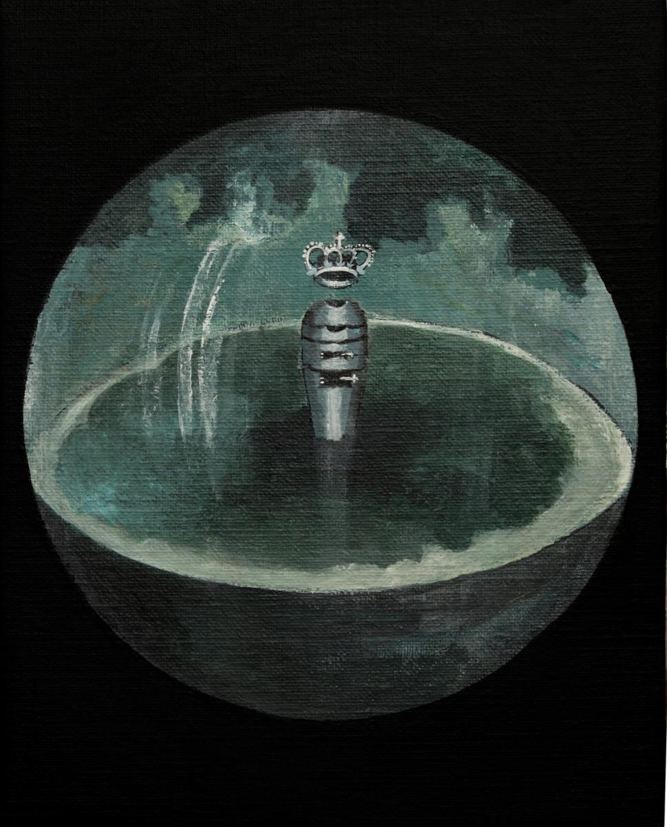 Distillation apparatus, oil on canvas, 2010