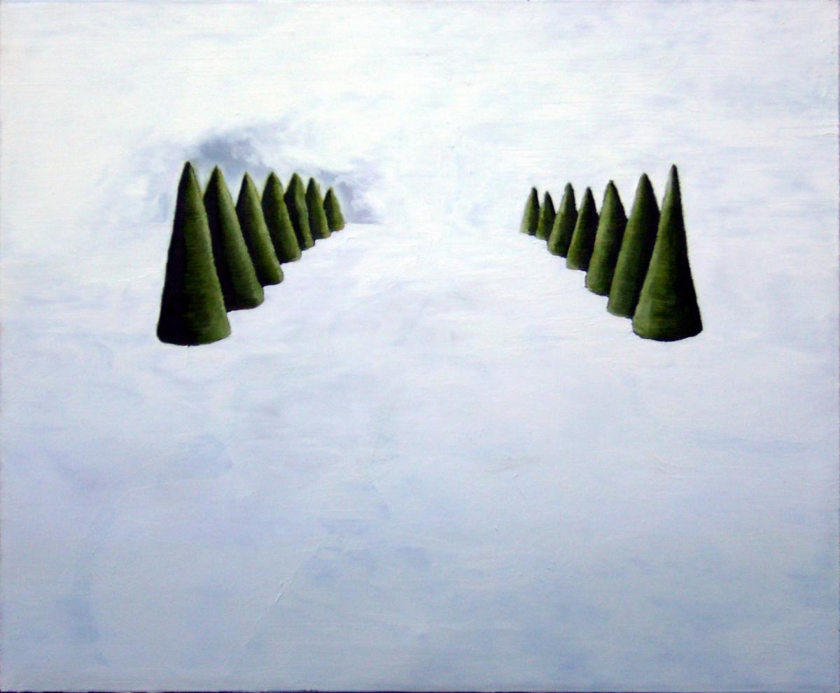 Trees, oil on canvas, 100cmx120cm, 2007