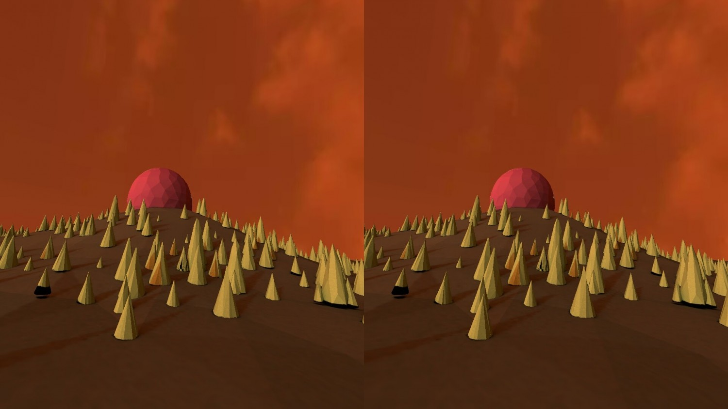 Breathing scape - A-Frame web experiment - VR view printscreen / browser on phone