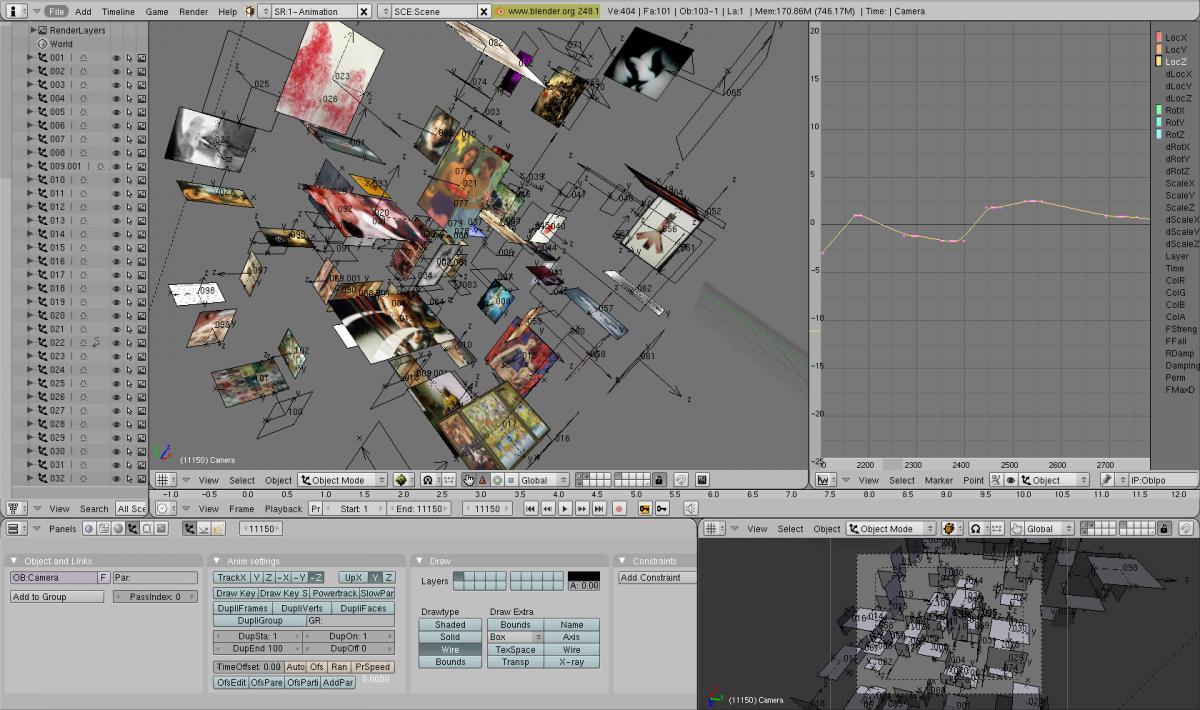 Netwerk der Lusten - 3D netwerk program (Blender 3D) screenshot