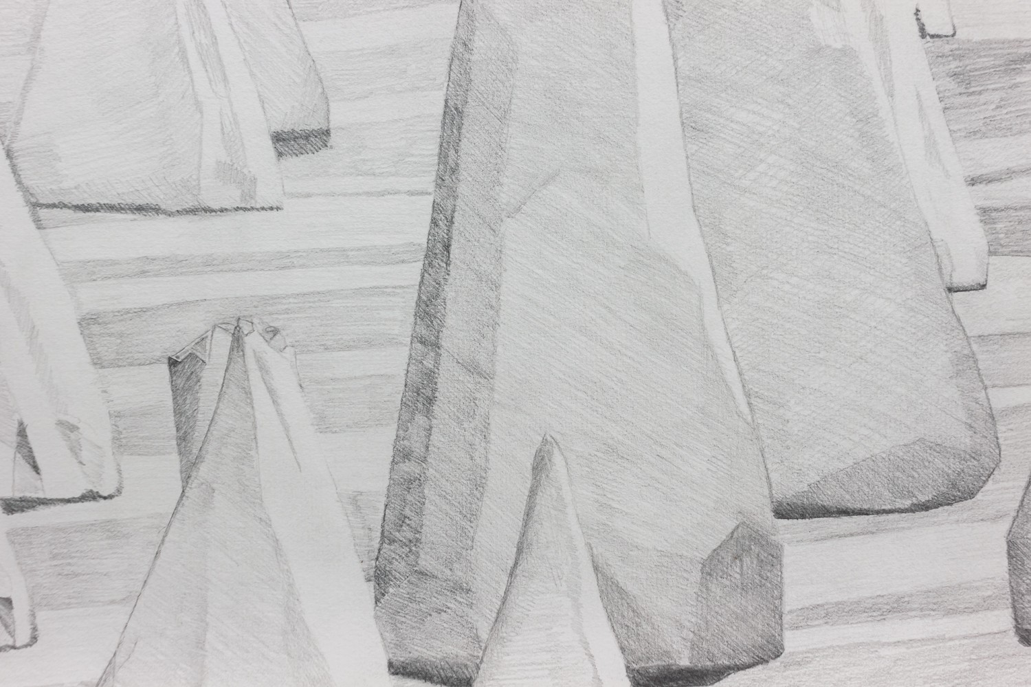 Breathing scape - graphite on paper, detail