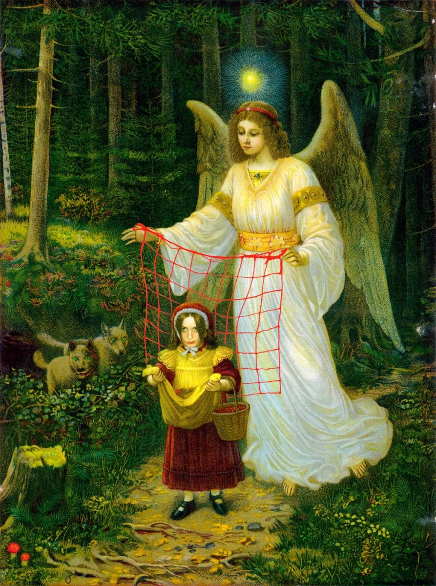 Engelbewaarder / Guardian Angel, digital photomontage, 2007