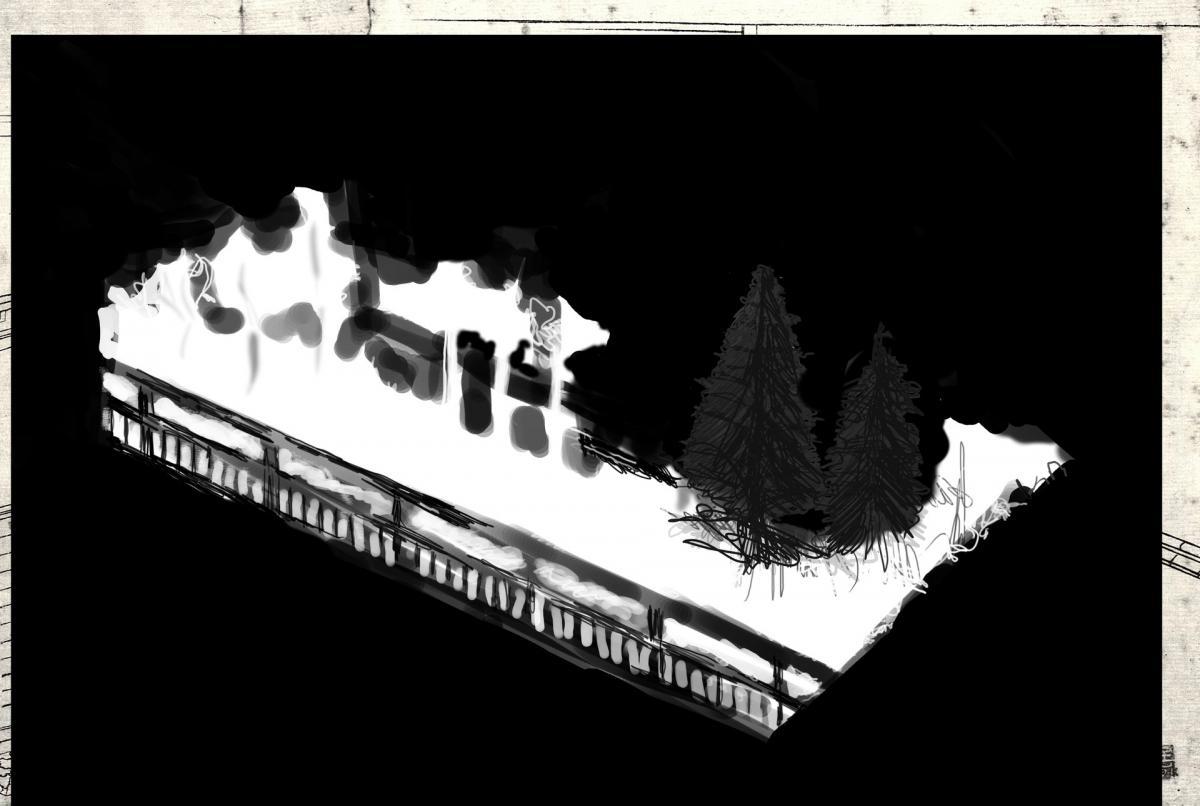 Ukiyo-e / Floating world / Vlietende wereld - Mask, Lambdaprint mounted between Diasec, 40x27cm