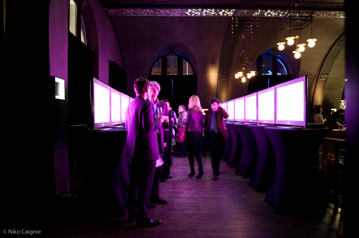 Tunnel der Lusten - installatie met 12 schermen